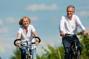 Физическая активность в виде езды на велосипеде