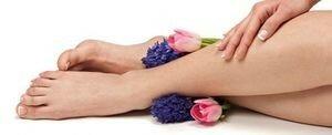 Здоровые ноги и цветы