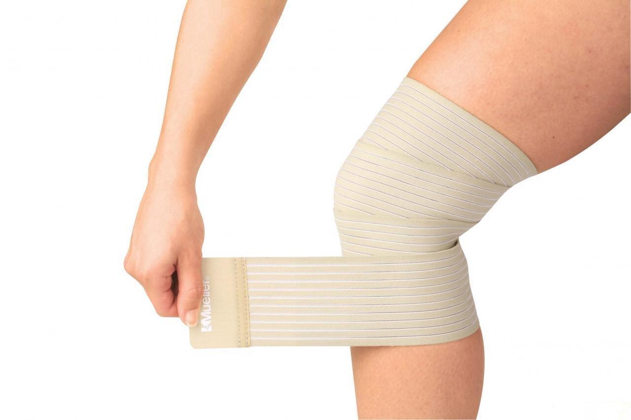 Как правильно завязать эластичный бинт на ногу